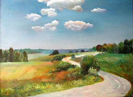 Vladimir Volosov, Russian Landscape, 2002